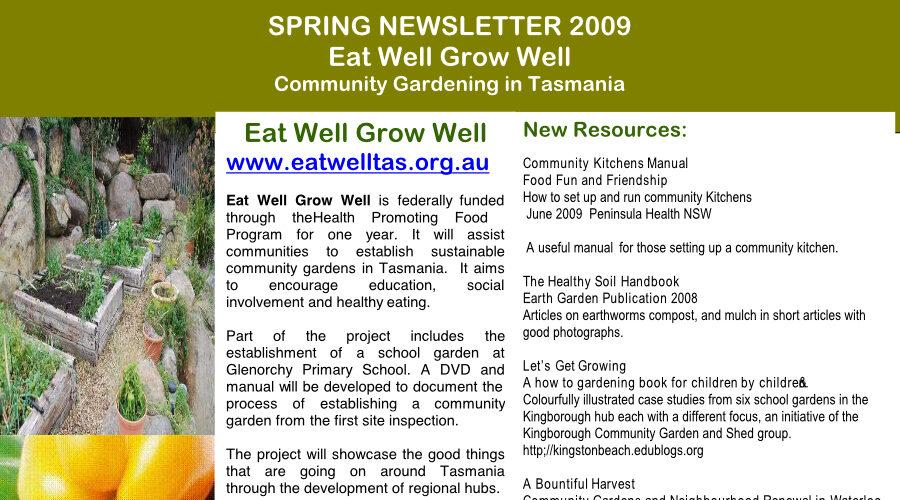 Tasmania newsletters