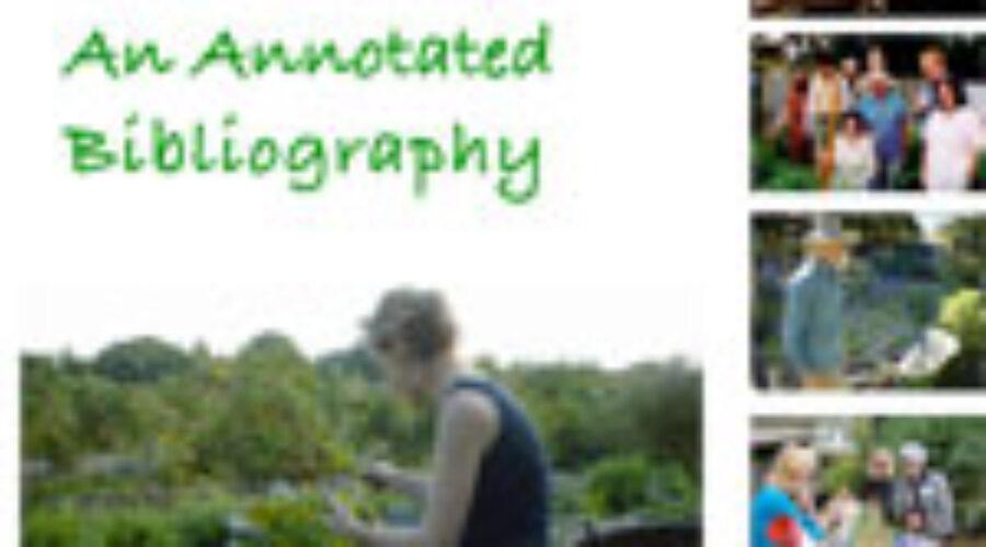 Community garden research bibliography
