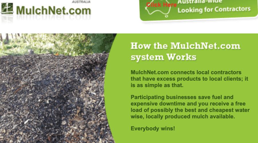 MulchNet—mulch drop-off