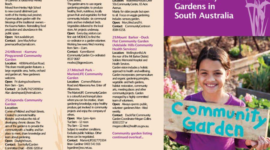 Directory of South Australian Community Gardens — 2012