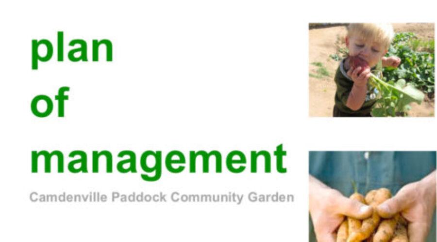 Camdenville Paddock CG Management Plan