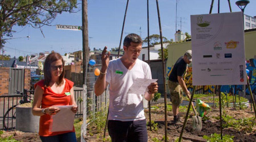 Pocket park community garden
