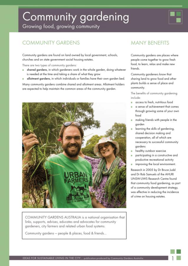 Community gardening cover