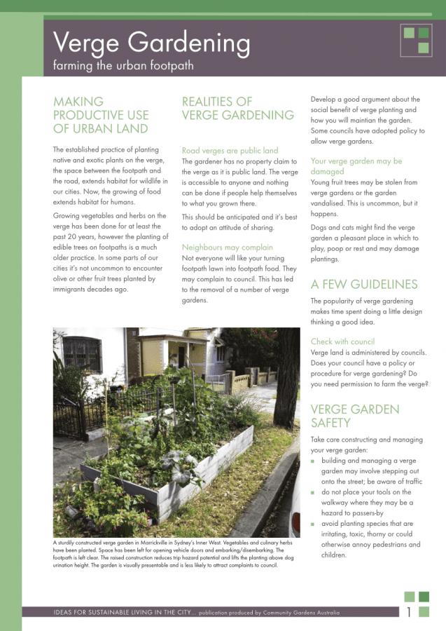 verge gardening
